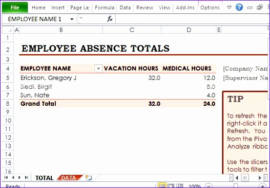 employee vacation tracker template 527368