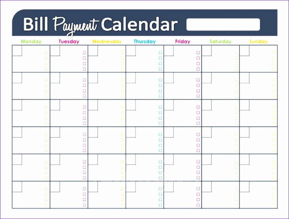 bill payment schedule excel spreadsheet 2 931706