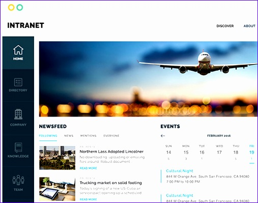 sharepoint intranet portal with web parts