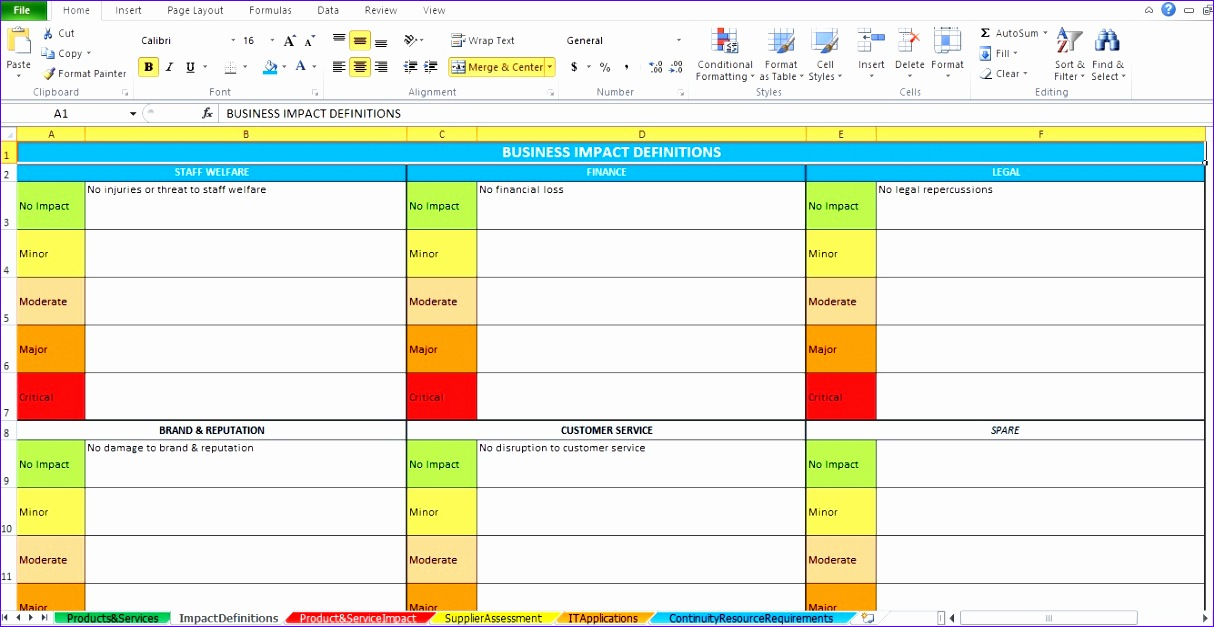 Excel Training Template Dlxhl New Business Impact Analysis Template Excel Excel Tmp 1335682
