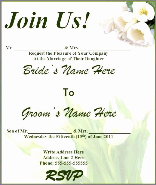 free wedding invitation templates 519616