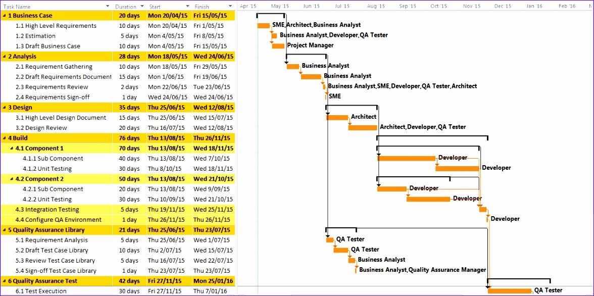 project management calendar excel 1176586