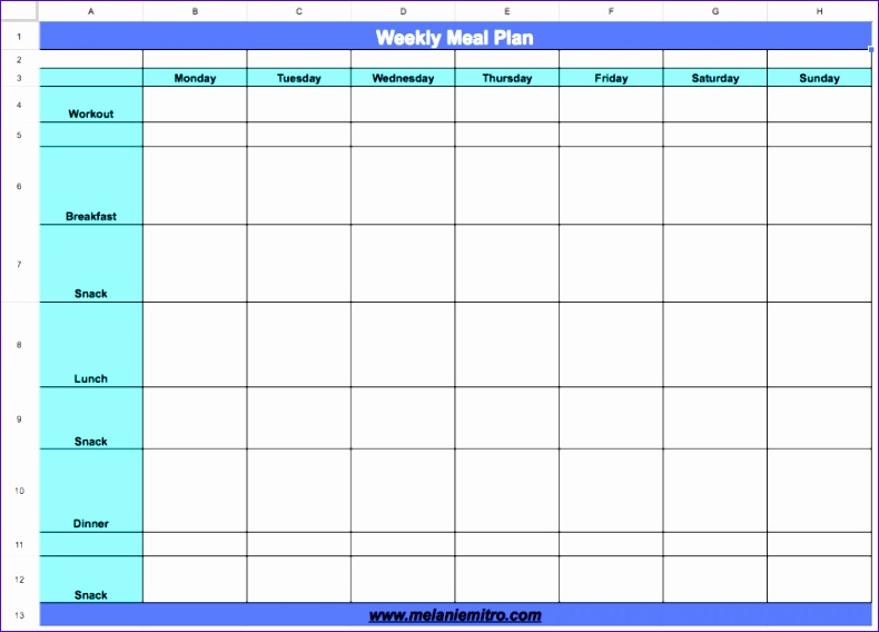 Excel Weekly Schedule Template Krdjw Elegant How to Create A Meal Plan for Your Week 869618