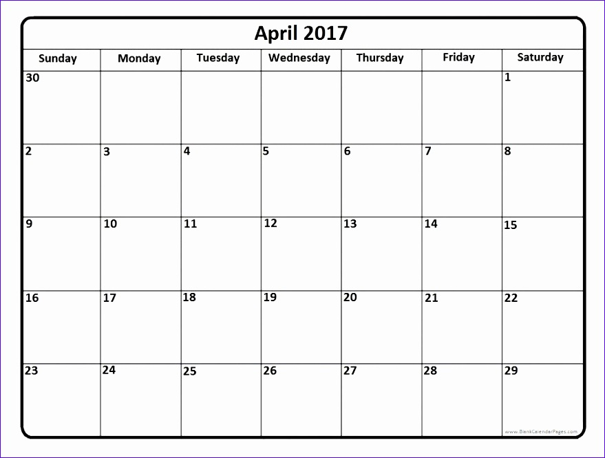 Excel Weekly Schedule Template Ugcdw New Blank April 2017 Calendar 966724