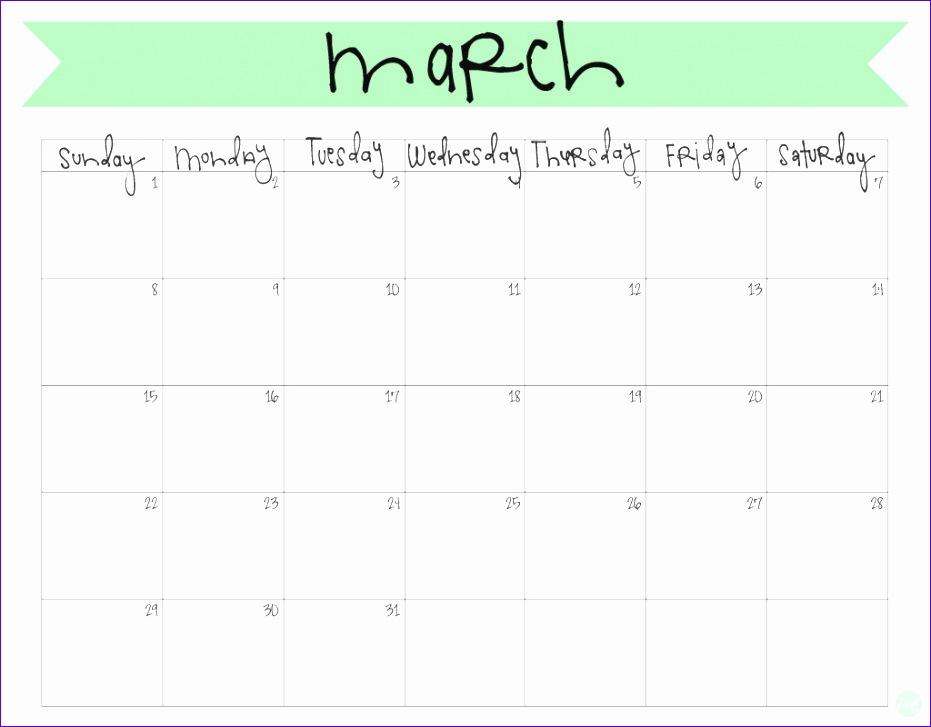 march 2017 calendar cute 1332 931727