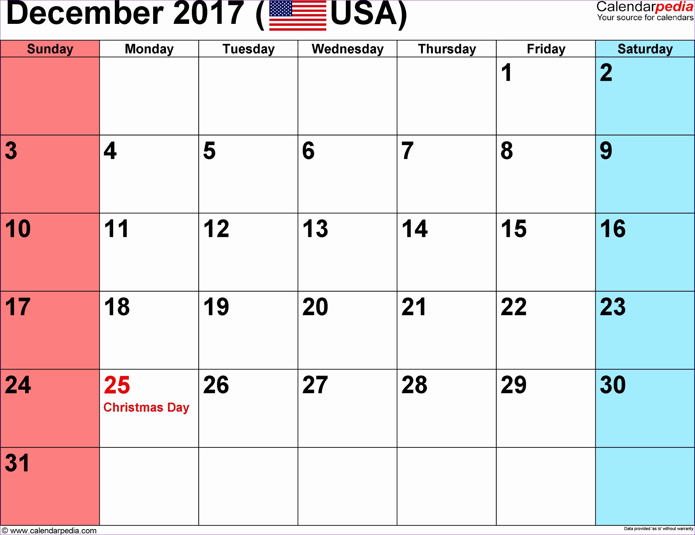 december 2017 calendar excel 2503 27092086