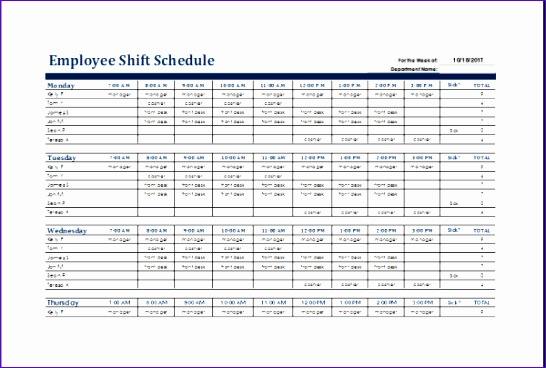 biweekly schedule templates 546368