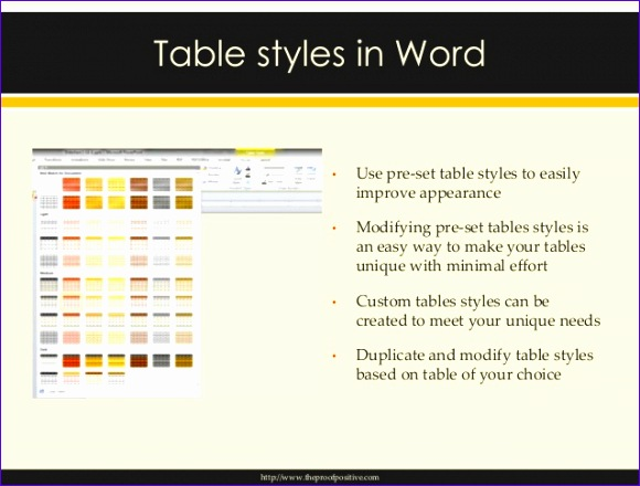 microsoft word power point tables 580440