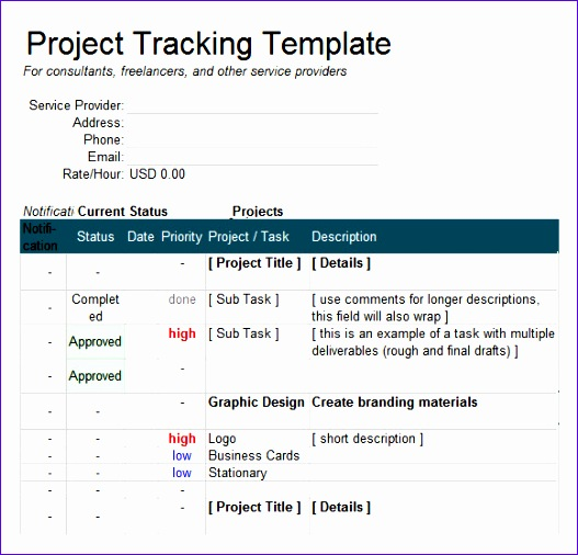excel tracking template 527506