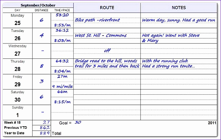 Excel Workout Template Ukyjp Beautiful Running Log Inside Pages 776488