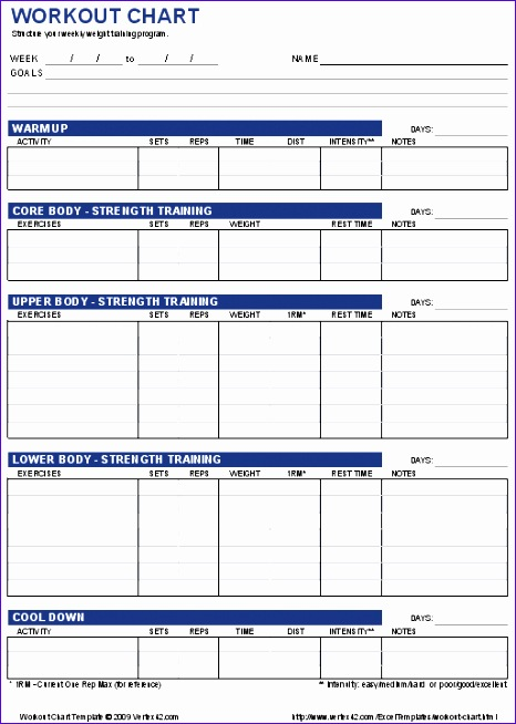 excel workout spreadsheet 466654