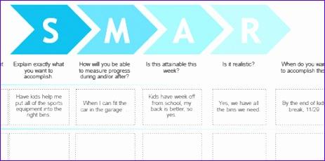 smart goals template excel 736