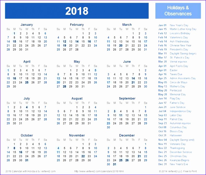 2018 calendar with holidays 2 732 669569