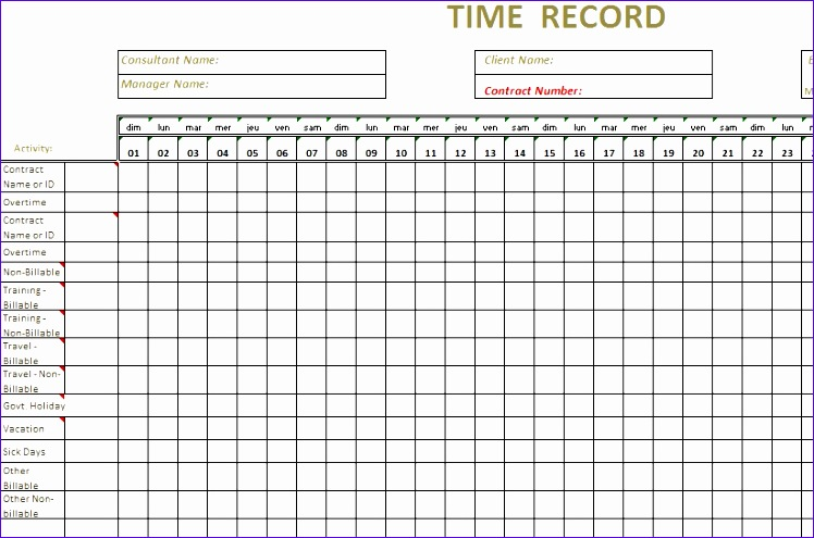 timesheet template excel 748495
