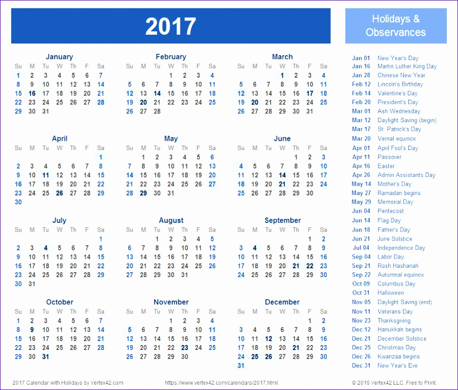 2017 monthly calendar template printable 939798