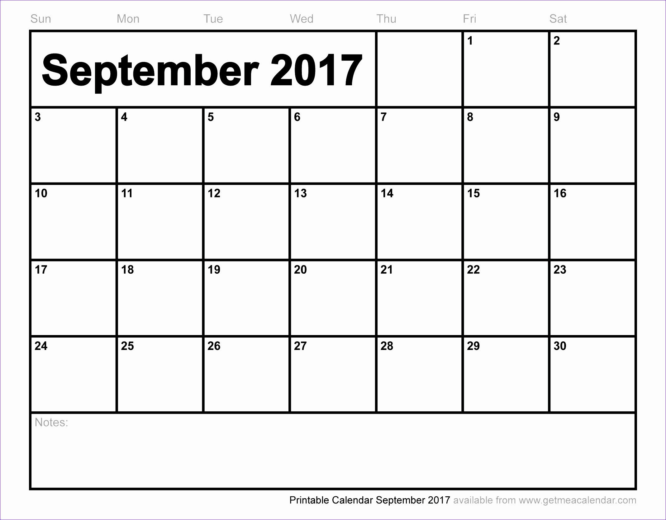 blank september 2017 calendar 2146