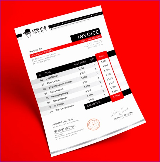 top 10 best free professional invoice design templates in ai psd format 546552