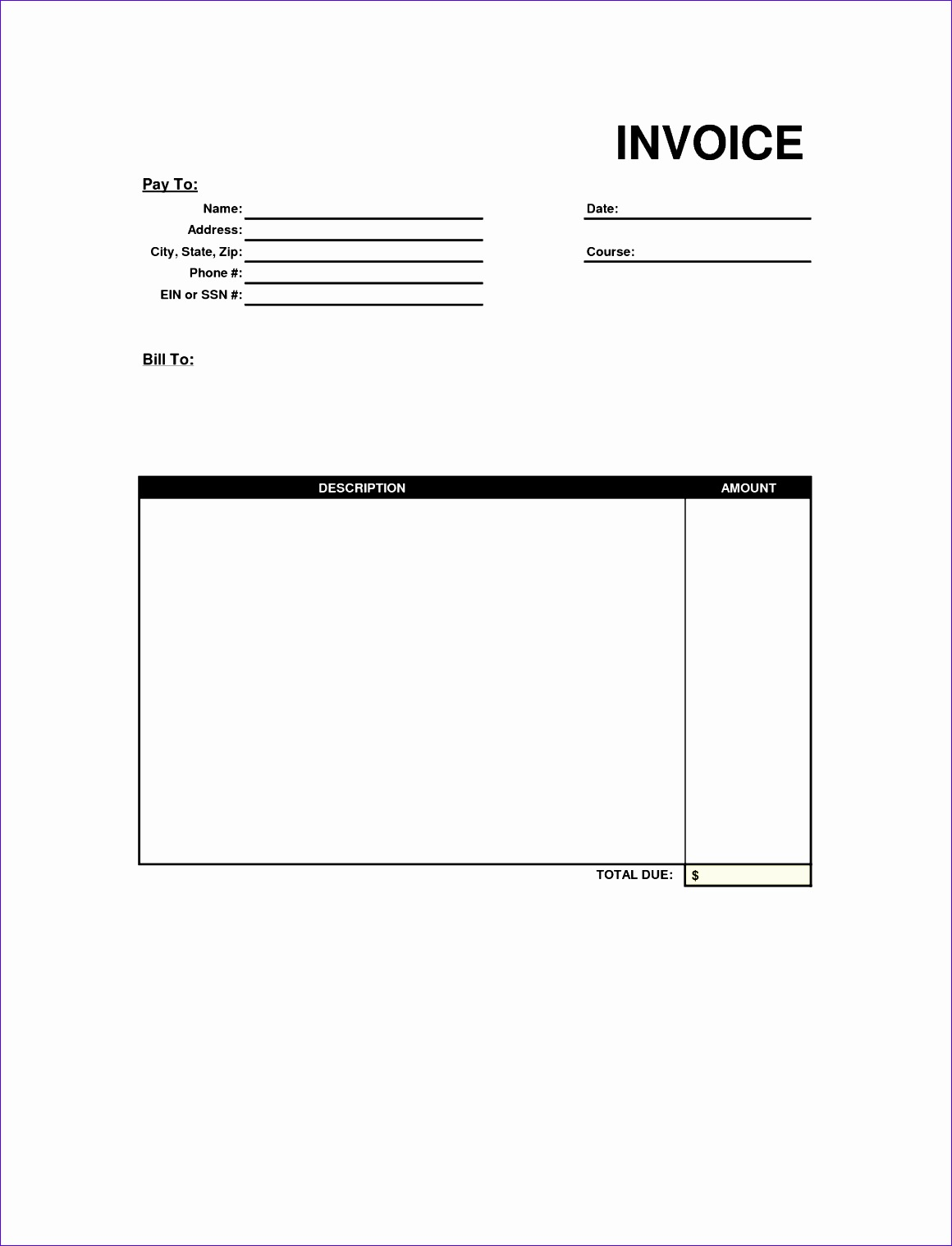free invoice format excel word pdf templates 11601518