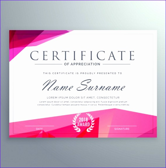 pink certificate 569575