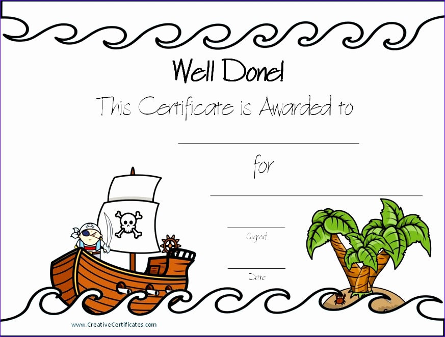 pirate certificates 873662