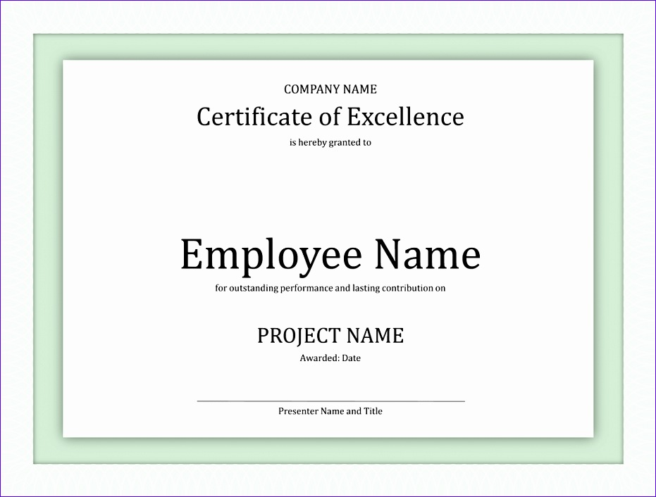 Excellence Certificate Template  Exceltemplates  Exceltemplates