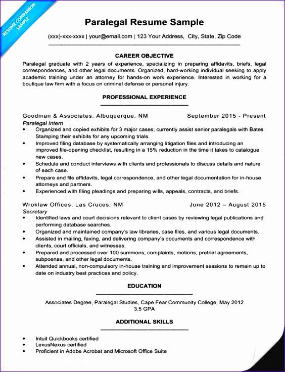 paralegal resume sample 564736
