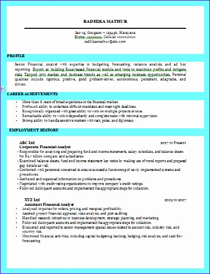 excellent resume sample for business 414542