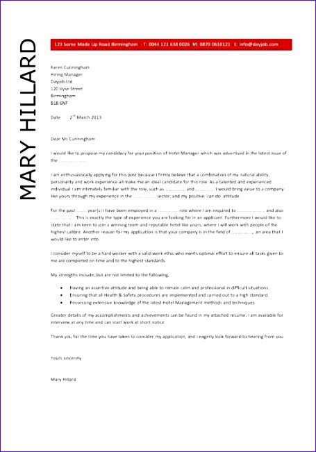 hotel manager cv template 673 455651