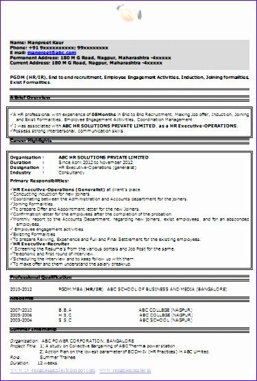 cv resume format 375555