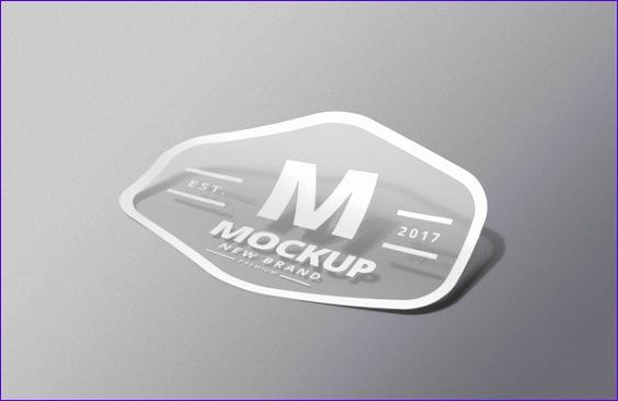 sticker psd mockup 564366