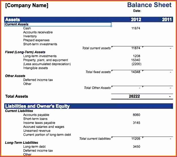 business balance sheet template 616545