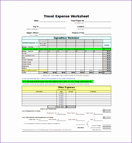 expense sheet template 532575