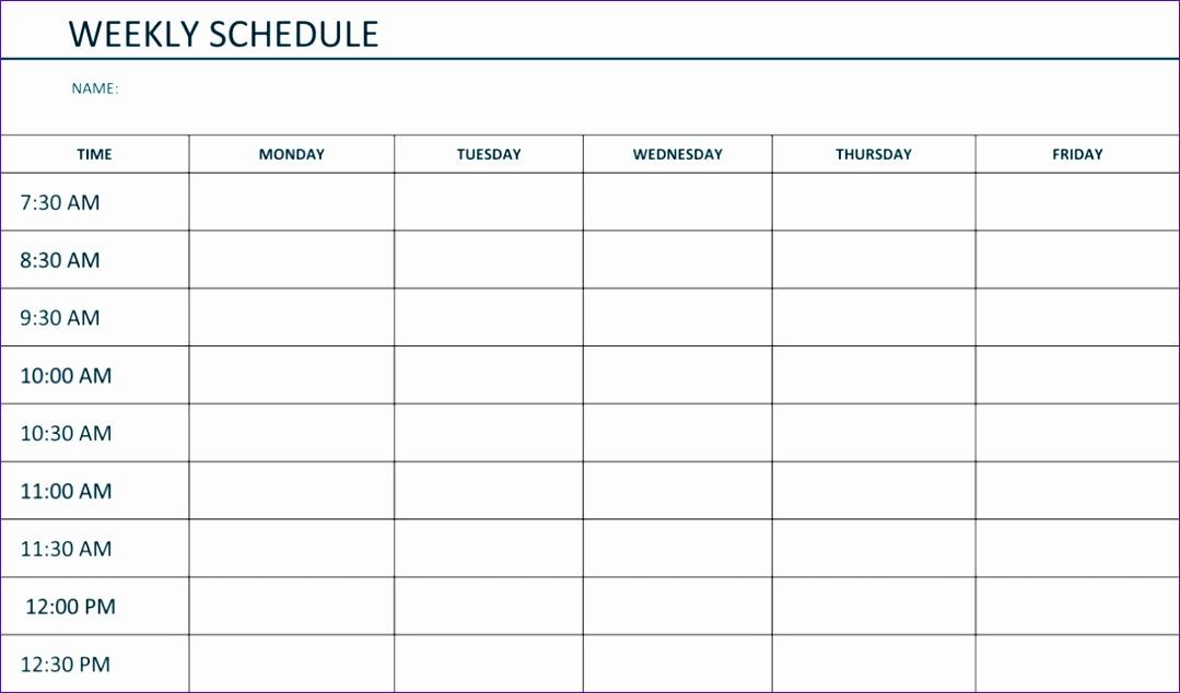 free printable weekly schedule template excel word 1079634