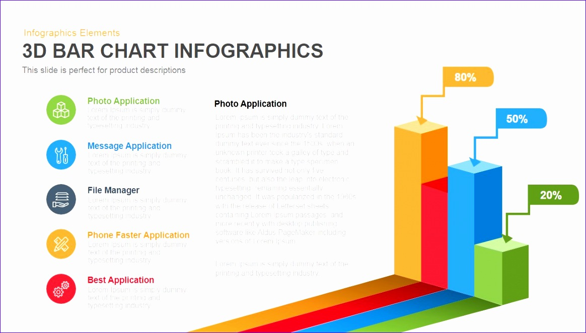 3d bar chart infographics powerpoint and keynote template 1164662