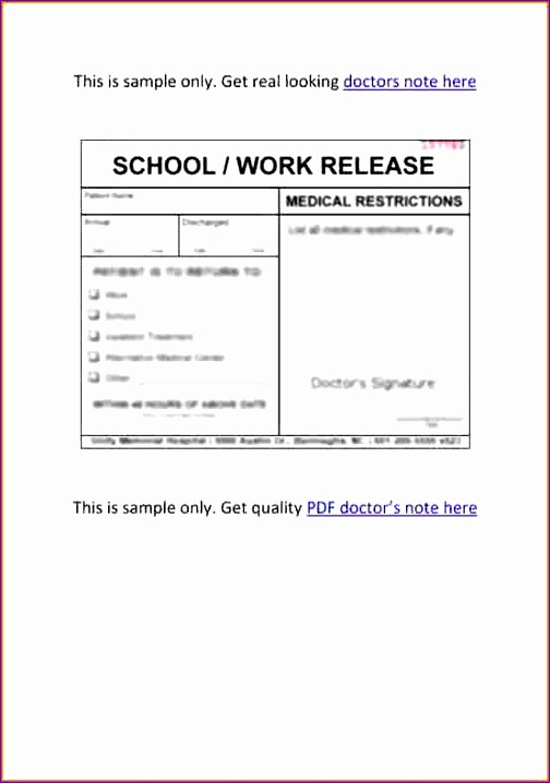 7 doctors note template pdf 504718