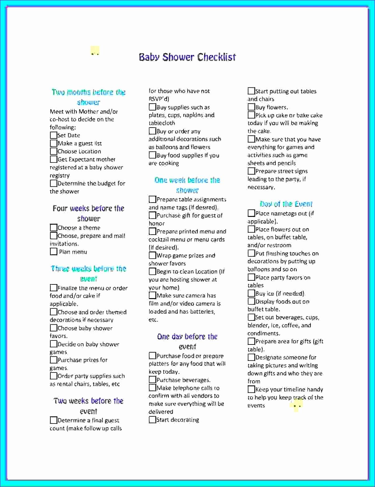 5 planning a baby shower checklist