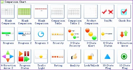 parison chart solutions 546290