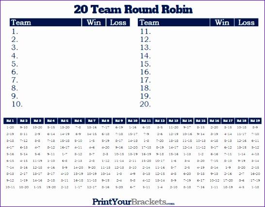20 team round robin 546426