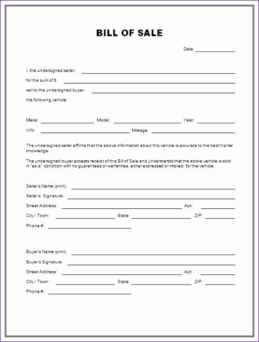 free printable bill of sale 533704