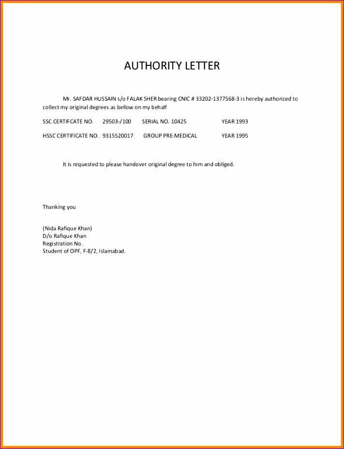 3 authorized letter for collect document 711927