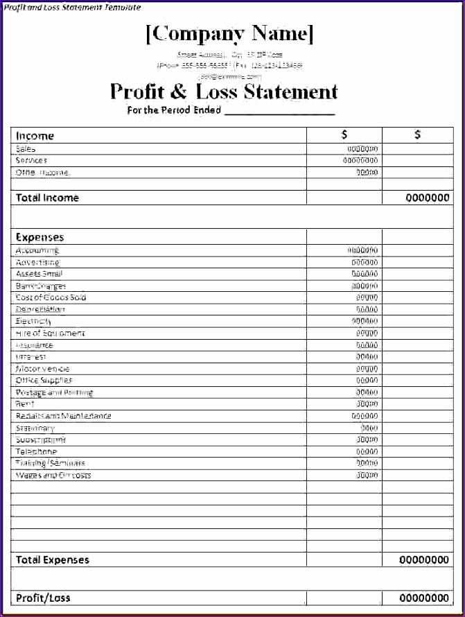 7 simple profit and loss template 671890