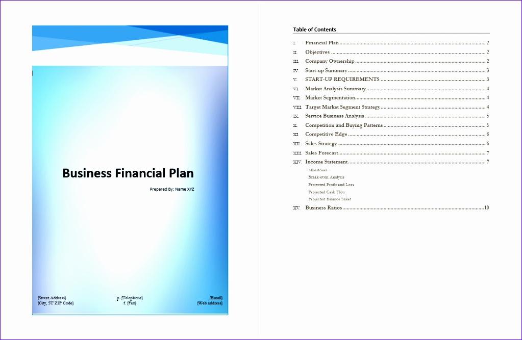4 microsoft business plan template 1023667