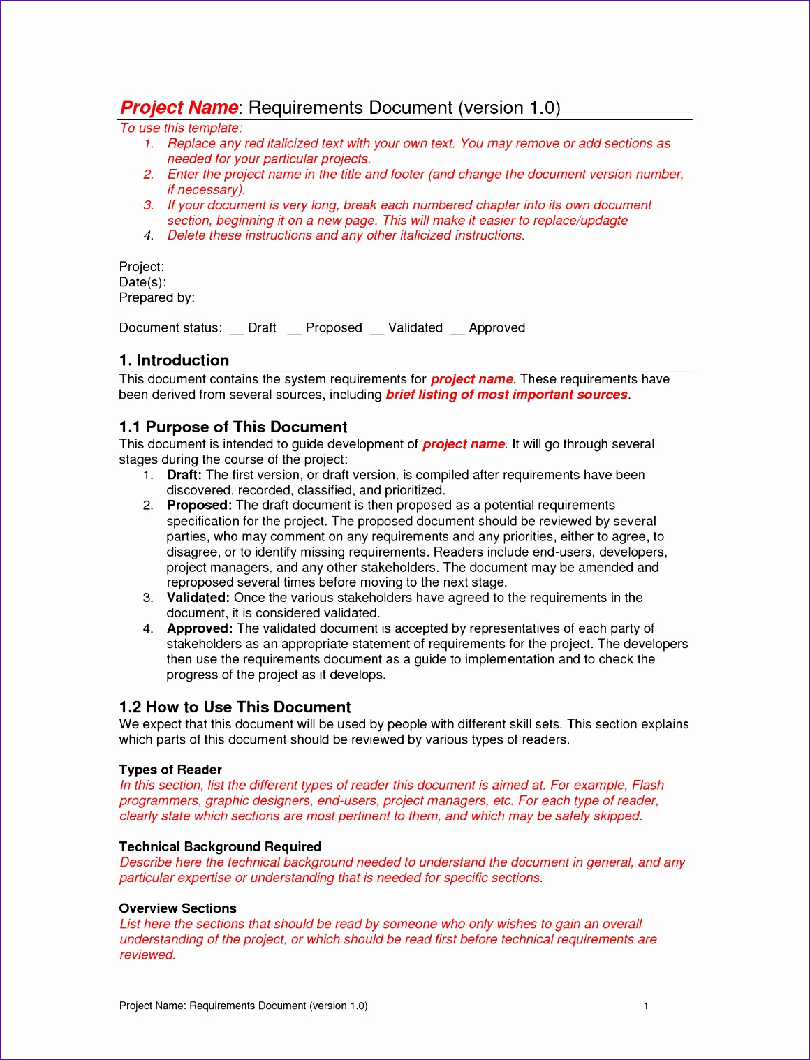 requirements document template 11601518