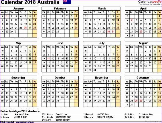 2018 calendar word 2115 564428
