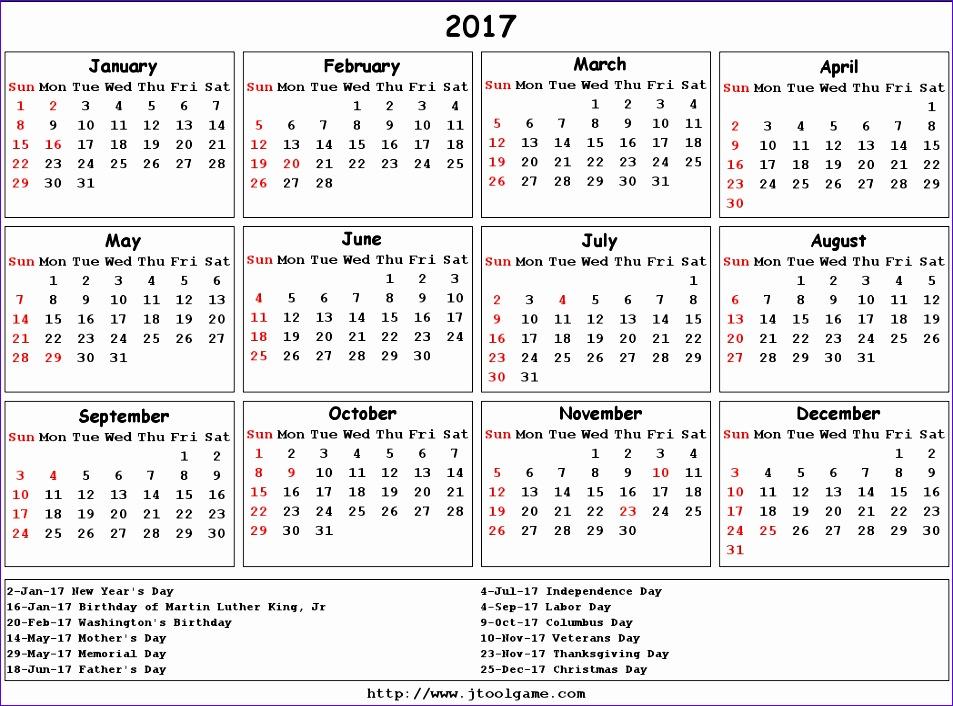 2017 calendar nz 724