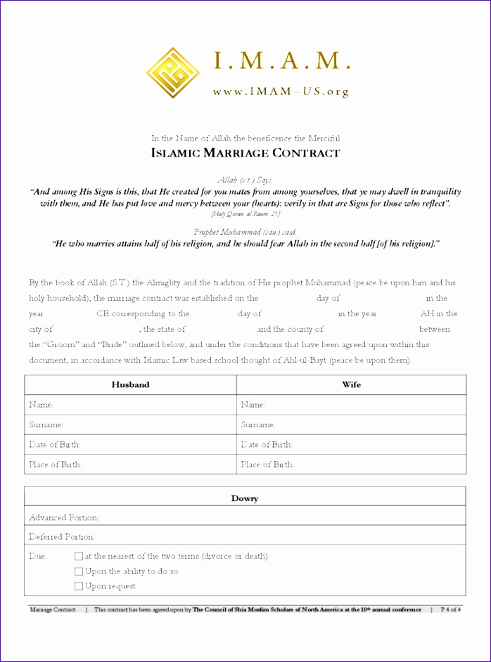 marriage contract form 698942