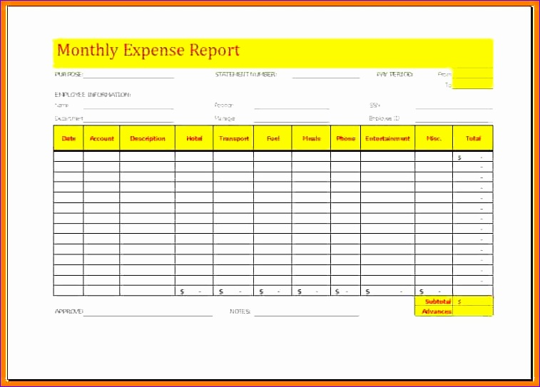 6 monthly expense report template 757543