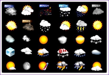 2 excelentes colecciones de iconos gratis sobre el estado del clima 455314