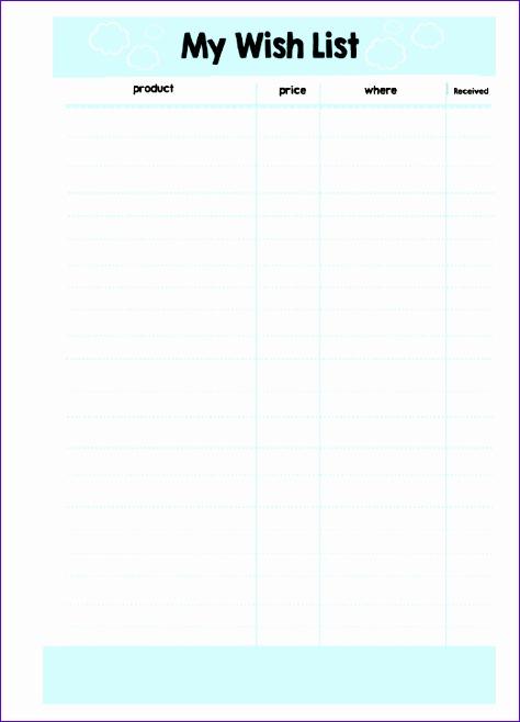 printable wish list template samples 474658