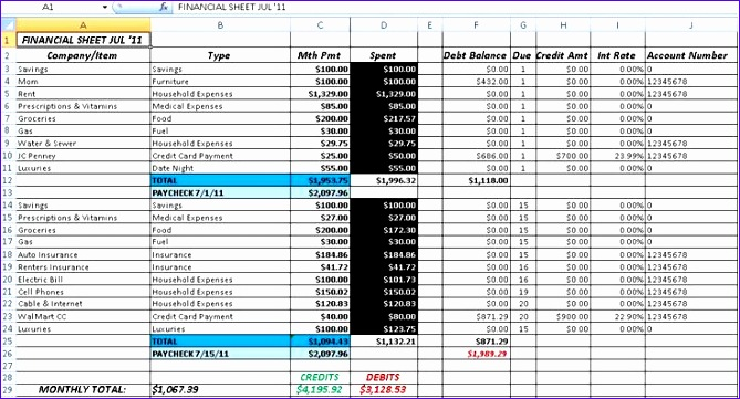 simple accounting spreadsheet 2 669361